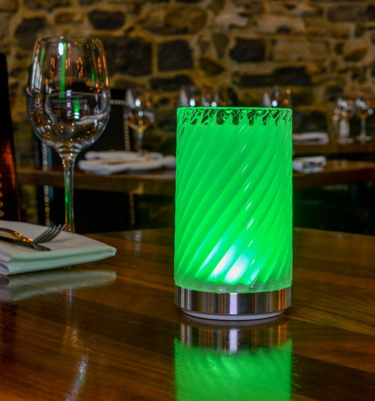 LED hospitality cordless table lamps