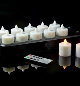 SUPER ULTRA WIZELITES™  Rechargeable Cordless Candles