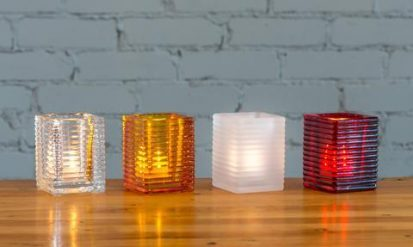 led flameless candles and candle holder